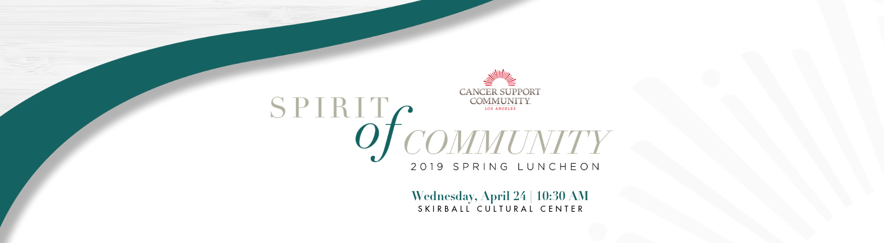 2019 Spirit of Community Luncheon on Wednesday, April 24 at 10:30 AM at the Skirball Cultural Center